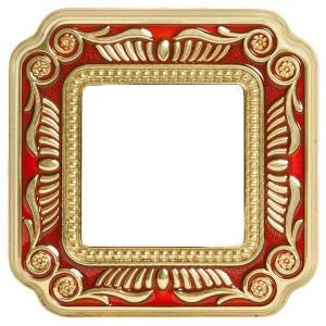 Рамка 1-ная Fede Firenze Smalto Italiano, ruby red