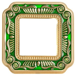 Рамка 1-ная Fede Firenze Smalto Italiano, emerald green