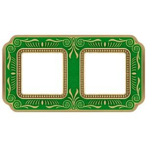 Рамка 2-ная Fede Firenze Smalto Italiano, emerald green