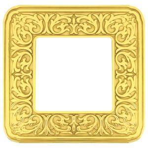 Рамка 1-ная Fede EMPORIO, bright gold