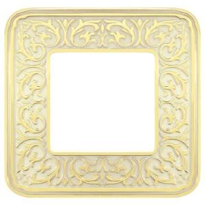Рамка 1-ная Fede EMPORIO, gold white patina