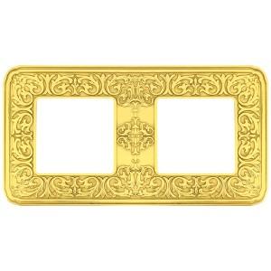 Рамка 2-ная Fede EMPORIO, bright gold