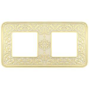 Рамка 2-ная Fede EMPORIO, gold white patina