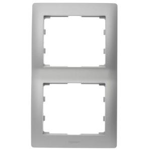 Рамка Legrand Galea Life 2 поста вертикальная Aluminium