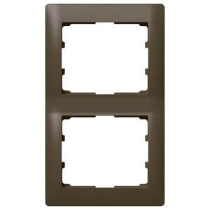 Рамка Legrand Galea Life 2 поста вертикальная Dark Bronze