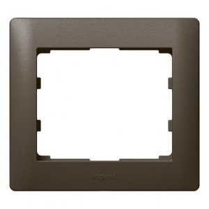 Рамка Legrand Galea Life 1 пост Dark Bronze