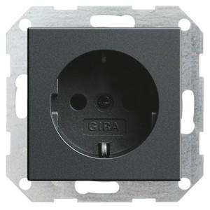 Розетка с/з Gira System 55 Антрацит