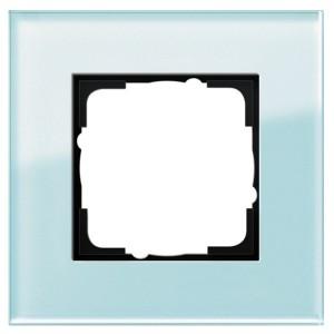 Рамка 1-ая Gira Esprit Салатовое стекло