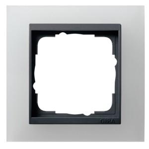 Рамка 1-ая Gira Event Белый Полупрозрачный цвет вставки Антрацит