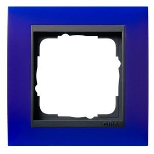 Рамка 1-ая Gira Event Матово-Синый цвет вставки Антрацит