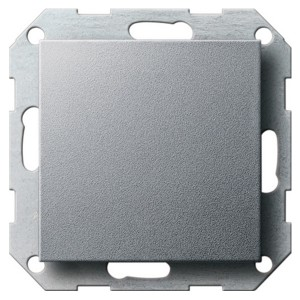 Заглушка с опорной пластиной Gira System 55 алюминий
