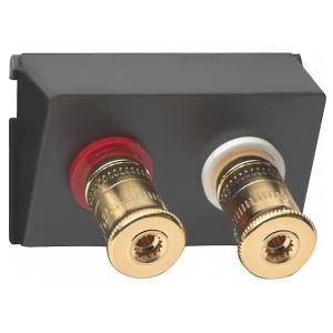 Аудиорозетка WBT (+/-) для подключения акустических систем класса High-End Gira механизм