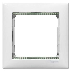 Рамка Legrand Valena 1 пост белый/кристалл