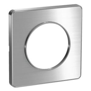 Рамка Odace 1 пост полированный алюминий (алюминевая вставка)