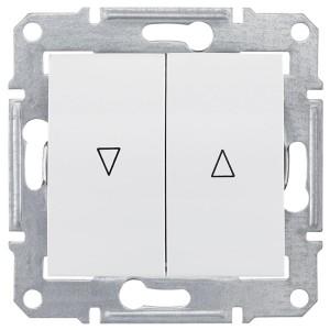 Выключатель для жалюзи с электрической блокировкой Sedna, белый