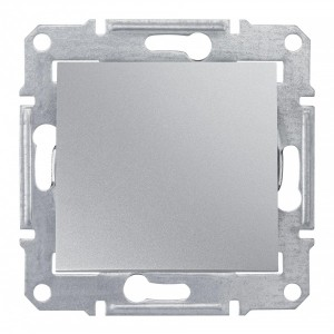 Выключатель IP44 Sedna алюминий