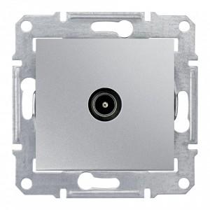 TV коннектор проходной Sedna, алюминий
