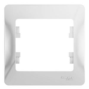 Рамка Glossa 1-постовая , белый
