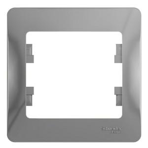 Рамка Glossa 1-постовая , алюминий