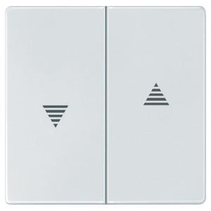 Клавиша 2-ая IP44 для кноп/клав выключателей рольставней Aquadesign Merten полярно-белый
