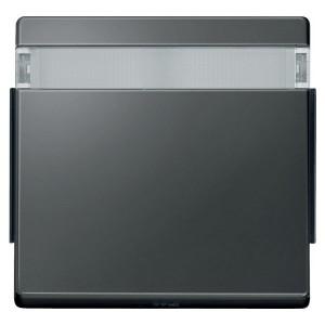 Клавиша 1-ая IP44 для кноп/клав выкл. с полем для надписей Aquadesign Merten антрацит