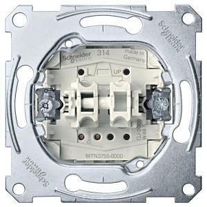 Выключатель рольставней кнопочный 1-полюсный Merten механизм