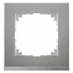 Рамка 1-ая M-Pure Decor Сталь/Цвет алюминия