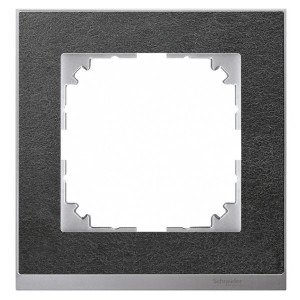 Рамка 1-ая M-Pure Decor Сланец/Цвет алюминия