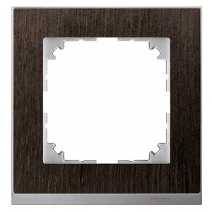 Рамка 1-ая M-Pure Decor Венге/Цвет алюминия