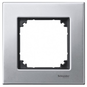 Рамка 1-ая Металл M-Elegance Merten Платина-серебро