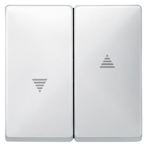 Клавиша 2-ая для кнопочного и клавишного выключателя рольставней System Design Merten полярно-белый