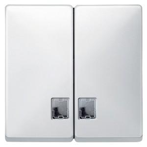 Клавиша 2-ая для выключателя с подсветкой System Design Merten полярно-белый