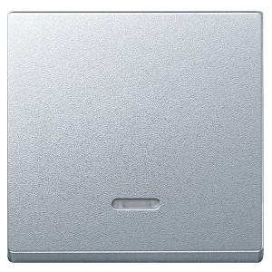 Клавиша 1-ая для выключателей с подсветкой System M Merten алюминий
