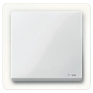 Клавиша 1-ая IP44 для выключателей и кнопок System M Merten полярно-белый