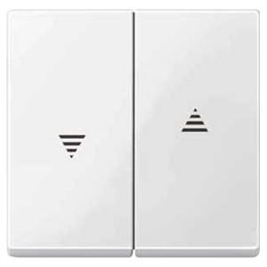 Клавиша 2-ая для кнопочного и клавишного выключателя рольставней System M Merten полярно-белый