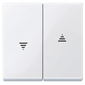 Клавиша 2-ая для кнопочного и клавишного выключателя рольставней System M Merten активный белый