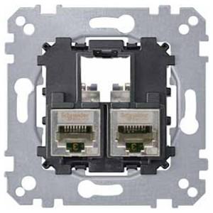 Компьютерная розетка 5 категории STP 2хRj45 Merten механизм