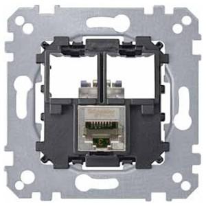 Компьютерная розетка 6 категории STP 1хRj45 Merten механизм