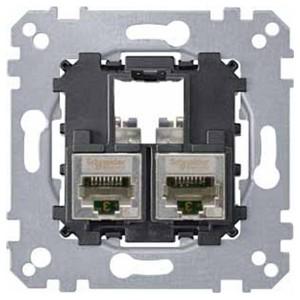 Компьютерная розетка 6 категории STP 2хRj45 Merten механизм