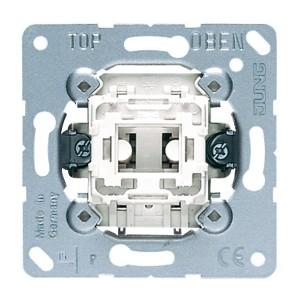 Выключатель кнопочный 1-клавишный 10а Jung механизм