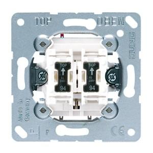 Выключатель кнопочный 2-клавишный 10а Jung механизм