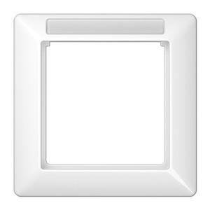 Рамка 1-ая с окошком для надписи Jung Белый