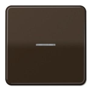 Клавиша 1-ая для одноклавишного выключателя/кнопки с подсветкой Jung CD Коричневый