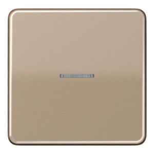 Клавиша 1-ая для одноклавишного выключателя/кнопки с подсветкой Jung CD Золотая бронза