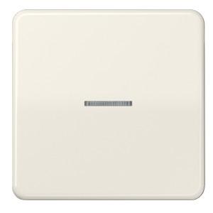 Клавиша 1-ая для одноклавишного выключателя/кнопки с подсветкой Jung CD Слоновая кость