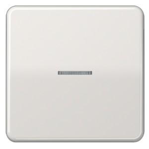 Клавиша 1-ая для одноклавишного выключателя/кнопки с подсветкой Jung CD Светло-серый