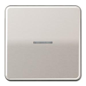 Клавиша 1-ая для одноклавишного выключателя/кнопки с подсветкой Jung CD Платина