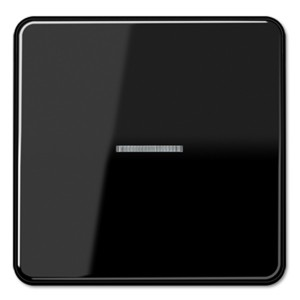 Клавиша 1-ая для одноклавишного выключателя/кнопки с подсветкой Jung CD Черный