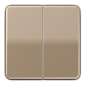 Клавиша 2-ая для двухклавишного выключателя/кнопки Jung CD Золотая бронза