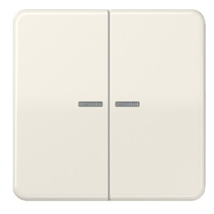 Клавиша 2-ая для двухклавишного выключателя/кнопки с подсветкой Jung CD Слоновая кость